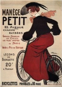Vintage French bicycle advertisment poster - Manege Petit